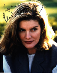 RENE RUSSO, ACTRESS AUTOGRAPHED INSCRIBED & SIGNED IN VEST 8X10 PHOTO WITH COA