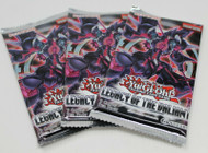 YuGiOh Legacy of the Valiant 3 Booster Pack Lot English Edition Factory Sealed