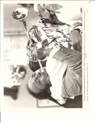 BURT YOUNG PLAYING TRUMPET SIGNED PHOTO AUTOGRAPHED W/COA 8X10