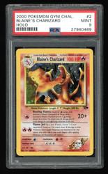Blaine's Charizard 2000 Gym Challenge 2/132 Pokémon TCG PSA Mint 9 #27940489