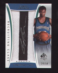 2007-08 SP AUTHENTIC COREY BREWER RECRUITING CLASS PATCH AUTO 24/50