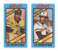 1980's Kellogg's NM/M Willie Stargell & Murray Perforations Unbroken