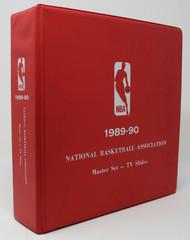 1989-90 NBA TV TC SLIDE MASTER SET BINDER W/ SLIDES $3/SLIDE