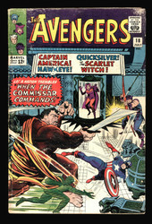 AVENGERS #18 BEAT BUT COMPLETE 12 CENTS COVER, SCARLETT WITCH,QUICKSILVER