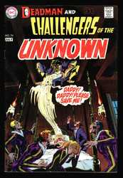 CHALLENGERS OF THE UNKNOWN #74 WITH DEADMAN BY NEAL ADAMS, VF-