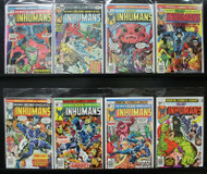 INHUMANS #5-#12 MARVEL BRONZE AGE ACTION, MEDUSA, BLACK BOLT 8 ISSUES