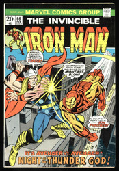 IRON MAN VS. THOR ! 2 BRONZE AGE ISSUES, #66 AND #69