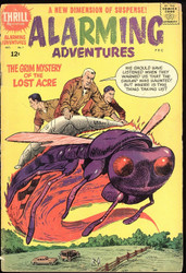 ALARMING ADVENTURES #1, 2, HARVEY COMICS 1962-1963 'A THRILL ADVENTURE'!