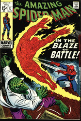 AMAZING SPIDER-MAN #77 NM HUMAN TORCH, THE LIZARD