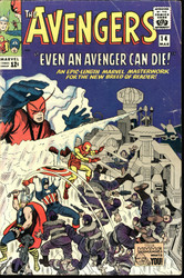 AVENGERS #14,15 SILVER AGE MARVELS DEATH OF THE ORIGINAL ZEMO