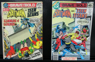 BRAVE AND THE BOLD #102, 149 TEEN TITANS, BATMAN, HIGH GRADE