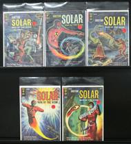 DOCTOR SOLAR MAN OF THE ATOM, #s 6, 11, 13, 14, 15 ORIGIN RETOLD, GOLD KEY