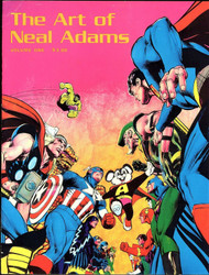 NEAL ADAMS ART LOT; ART OF NEAL ADAMS, NEAL ADAMS TREASURY 2, ROCK COMICS #1