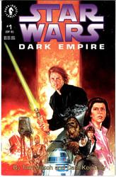 STAR WARS DARK EMPIRE #1-2 EACH SIGNED BY TOM VEITCH ON 1ST PAGE DARK HORSE