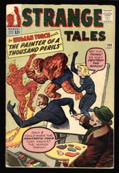 STRANGE TALES #108 BEAT BUT COMPLETE, HUMAN TORCH VS FANTASTIC FOUR KIRBY ART