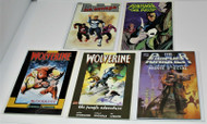 WOLVERINE/PUNISHER GRAPHIC NOVELS HIGH GRADE MARVEL LOT 5-IN-ALL