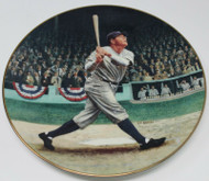 """""""Babe Ruth: The Called Shot"""" Decorative Plate Yankees in Original Box With COA"""