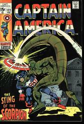 Captain America #122 vs. The Scorpion, Very Fine- 15¢ cover
