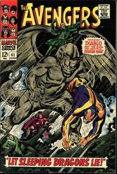 Avengers #41-Diablo, Dragon Man, Scarlet Witch, Quicksilver, Hawkeye F/VF-VF