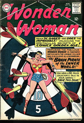 WONDER WOMAN #156 12¢ cover, 1965, Very Good- Early mention of Comic Collecting