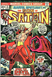 Marvel Spotlight #13 Son of Satan. VF/NM- Origin retold