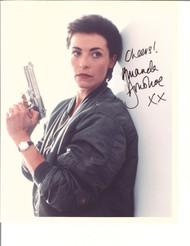 AMANDA DONOHOE WITH A GUN SIGNED PHOTO AUTOGRAPHED W/COA 8X10