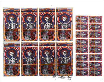 Grateful Dead Handbills/Cards Poster Proof Rare Rock Skully Hand Signed by Mouse
