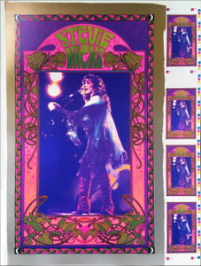Stevie Nicks Original Uncut Proof Sheet Metallic Inks Handbills Signed Bob Masse