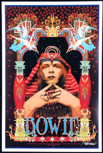 "David Bowie Poster ""Pharoah"" Gorgeous New Hand-Signed Lithograph by Bob Masse"