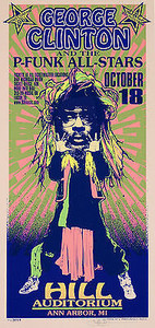 George Clinton and P-Funk All-Stars Poster Signed Silkscreen Mark Arminski