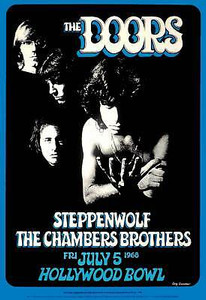 Doors, Chambers Brothers, Steppenwolf; Hollywood Bowl, 7/5/68 1988 2nd Printing