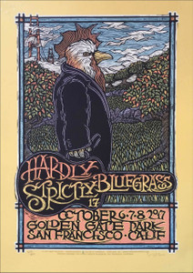 Hardly Strictly Bluegrass Poster Original Limited Silkscreen Signed Gary Houston