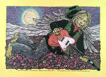 Tom Petty In Memoriam Poster Special Signed Numbered Edition of 125 Gary Houston