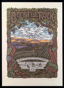 Bottlerock 2018 Poster Napa CA Original Hand-Signed Silkscreen by Gary Houston