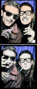 Waylon Jennings Buddy Holly Grand Central Station Photobooth 1959 2 Poster Set
