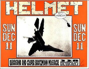 Helmet Poster Quicksand Nashville TN Just 500 signed by Alton Kelley 1994