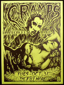 Cramps Halloween Ball By Philip Cooper Fillmore Auditorium 1989 Green Paper