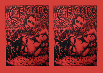 Cramps Halloween Ball Philip Cooper Fillmore Two-up Uncut Proof Red Paper
