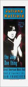 Juliana Hatfield Poster John Doe GAMH 1995 Signed 250# by Lynne Porterfield