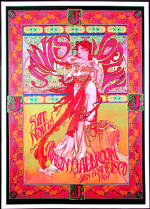 Janis Joplin Poster Avalon Ballroom Fan Poster Signed by Illustrator Bob Masse