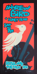 Andrew Bird Poster Original Signed Silkscreen by Gary Houston
