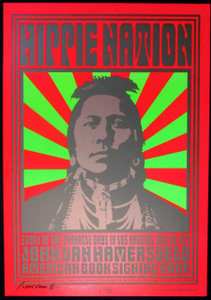 John Van Hamersveld Poster Hippie Nation Pinnacle Days Book Tour Signed by John