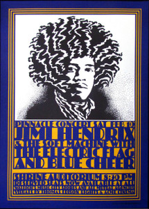 Jimi Hendrix Poster Shrine Auditorium Beautiful 4th Print by John Van Hamersveld