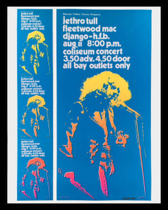 Jethro Tull Poster Fleetwood Mac Vancouver 72 Orig Uncut Proof Signed Bob Masse