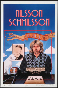 Harry Nilsson Schmilsson Tribute Poster 1972 New Print Hand Signed David Byrd
