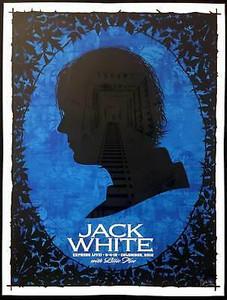 Jack White Poster Express Live! Columbus 2018 Silkscreen Signed Todd Slater