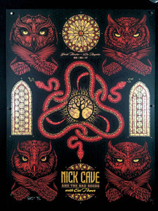 Nick Cave Poster Cat Power Greek Theater 2017 FOIL VARIANT Signed Todd Slater