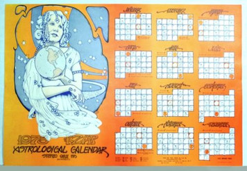 "KZAP 1973 Astrological Calendar Matches 2012 33.5"" x 21.75"" by Roger Shepherd"