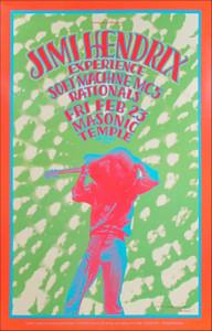 Jimi Hendrix Experience Soft Machine MC5 Detroit 1968/1990 Signed Gary Grimshaw