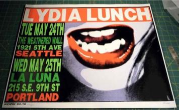 Lydia Lunch Original Concert Poster Seattle/Portland 1994 Kozik NICE
